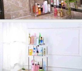 منظم انيق لادوات العنايه في الحمام